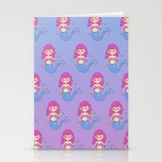 mermaids pattern Stationery Cards