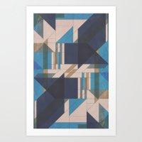 Abstract Glass Art Print