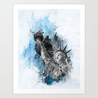 Lady Liberty Art Print