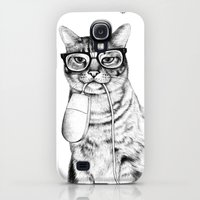 Galaxy S4 Cases featuring Mac Cat by florever