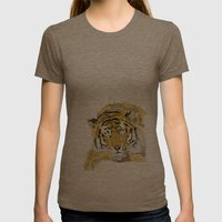 Sleepy Tiger Womens Fitted Tee Tri-Coffee SMALL