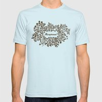 Microfarmer - Gold Mens Fitted Tee Light Blue SMALL