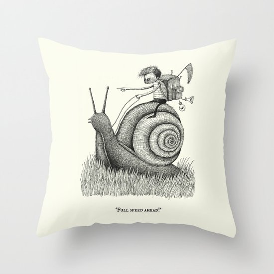 'Full Speed Ahead!' Throw Pillow