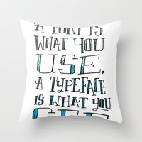 Fonts, Typefaces & Lettering Throw Pillow
