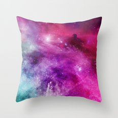 Horse Head Nebula Watercolor Universe Throw Pillow