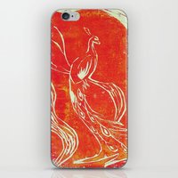 Peacock of Fire iPhone & iPod Skin