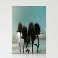 Prickly Teasels  Stationery Cards