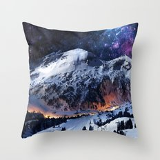 Mountain CALM IN Space V… Throw Pillow