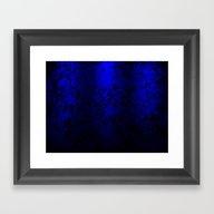 Vibrant Blue Abstract Fl… Framed Art Print