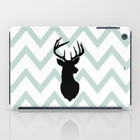 Chevron Deer Silhouette iPad Case