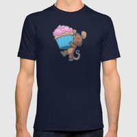 Cupcake Mouse Mens Fitted Tee Navy SMALL