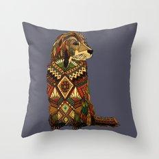 Golden Retriever dusk Throw Pillow