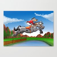 Olympic Equestrian Jumpi… Canvas Print