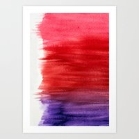 Watercolor Wash Abstract Art Print