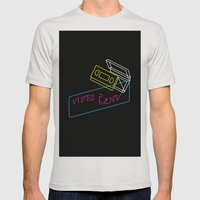 Video Is For Rent Mens Fitted Tee Silver SMALL