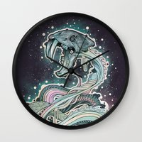 Saber-toothed Serpent In… Wall Clock
