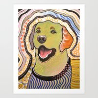 Bella ... Abstract Dog A… Art Print