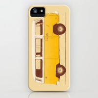 iPhone Cases featuring Yellow Van by Speakerine / Florent Bodart