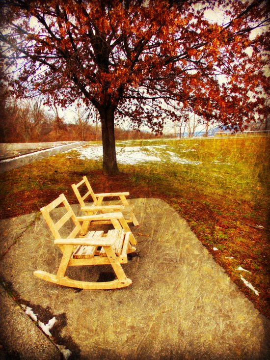 Come Sit, Stay Awhile... Art Print