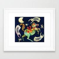 Night Horse Framed Art Print