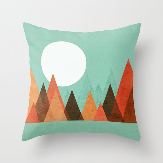 From the edge of the mountains Throw Pillow