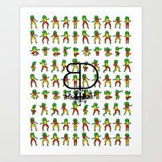 Jah Luv BD - BD x RC Graphic Art Collaboration Art Print