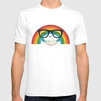 Brainbow Mens Fitted Tee White SMALL