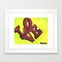 Neon LOVE Framed Art Print
