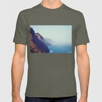 Hawaii Mountains Along the Ocean Mens Fitted Tee Lieutenant SMALL