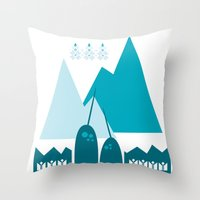 Heart the Narwhal Throw Pillow