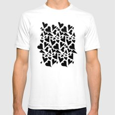 black hearts Mens Fitted Tee White SMALL