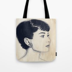 audrey (watercolor) Tote Bag
