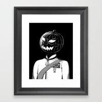 Sir Halloween Framed Art Print