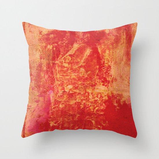 女は桜の下 (Woman under the cherry tree) Throw Pillow