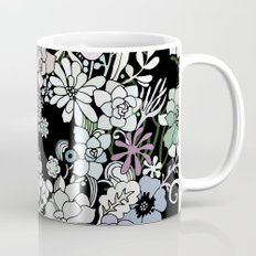 Colorful black detailed floral pattern Mug