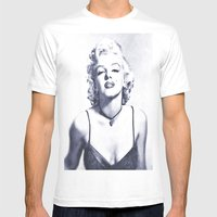 Marilyn Monroe 2 Mens Fitted Tee White SMALL