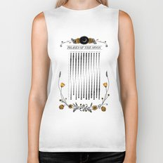 2015 Illustrated Phases of the Moon Calendar Biker Tank