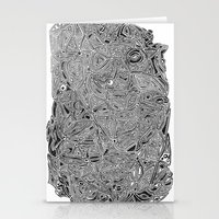 b/w pattern Stationery Cards