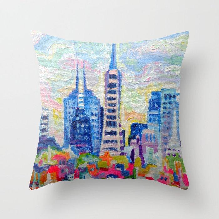 San Francisco Colors Throw Pillow by Morgan Ralston Society6