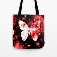 Butterfly Splatter Tote Bag