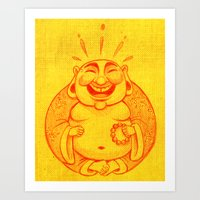 Laughter Brightens The S… Art Print