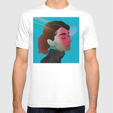 Classy- Audrey Hepburn White SMALL Mens Fitted Tee