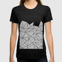 Abstraction Mountain Womens Fitted Tee Tri-Black SMALL