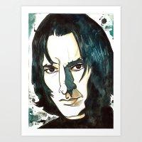 Professer Snape Art Print