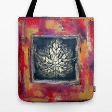 Leaf Imprint - Textured Painting Tote Bag