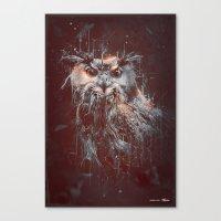 DARK OWL Canvas Print