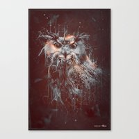 DARK OWL Canvas Print