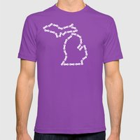 Ride Statewide - Michiga… Mens Fitted Tee Ultraviolet SMALL