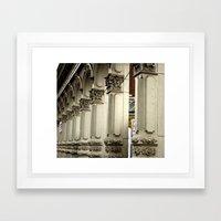 Skidmore Lines Framed Art Print