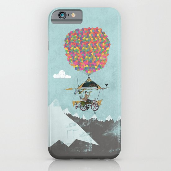 Riding A Bicycle Through The Mountains iPhone & iPod Case